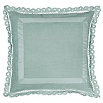 Wamsutta® Vintage Linen Lace Trim Square Throw Pillow in Aegean