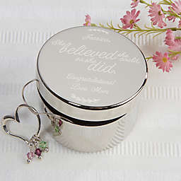 Inspiration for Her Engraved Keepsake Box in Silver
