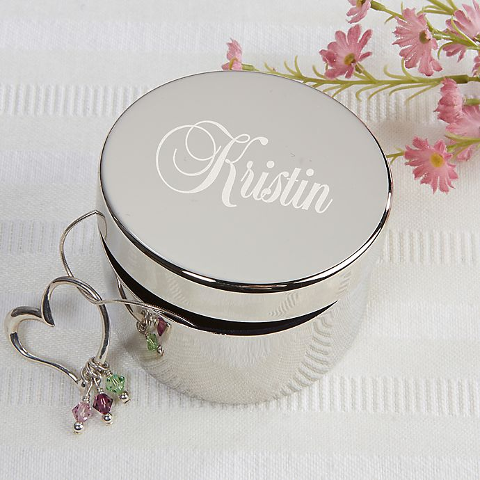 Alternate image 1 for Beautiful Reflections Keepsake Box in Silver