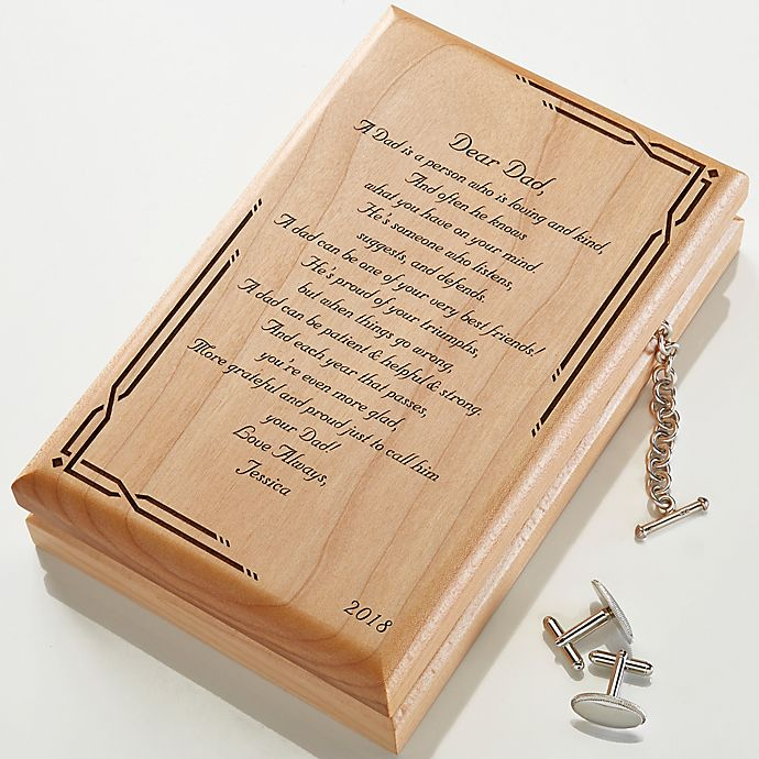 Alternate image 1 for Engraved Wood Jewelry Box and Valet Box Collection