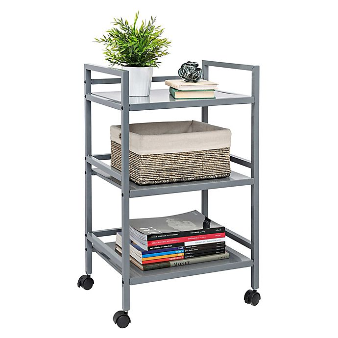 Alternate image 1 for Honey-Can-Do® 3-Tier Metal Rolling Cart