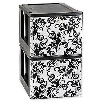 IRIS® Stacking File Drawer with Design in Black