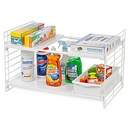 IRIS® Expandable Sliding Drawer Under-sink Organizer in White