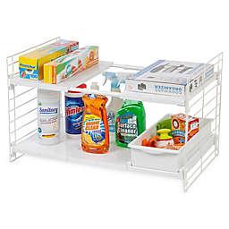 IRIS® Expandable Sliding Drawer Under-sink Organizer in White