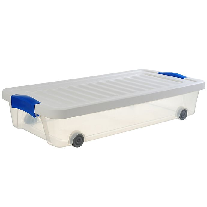 Alternate image 1 for Underbed 31-Inch Clear Rolling Storage Box