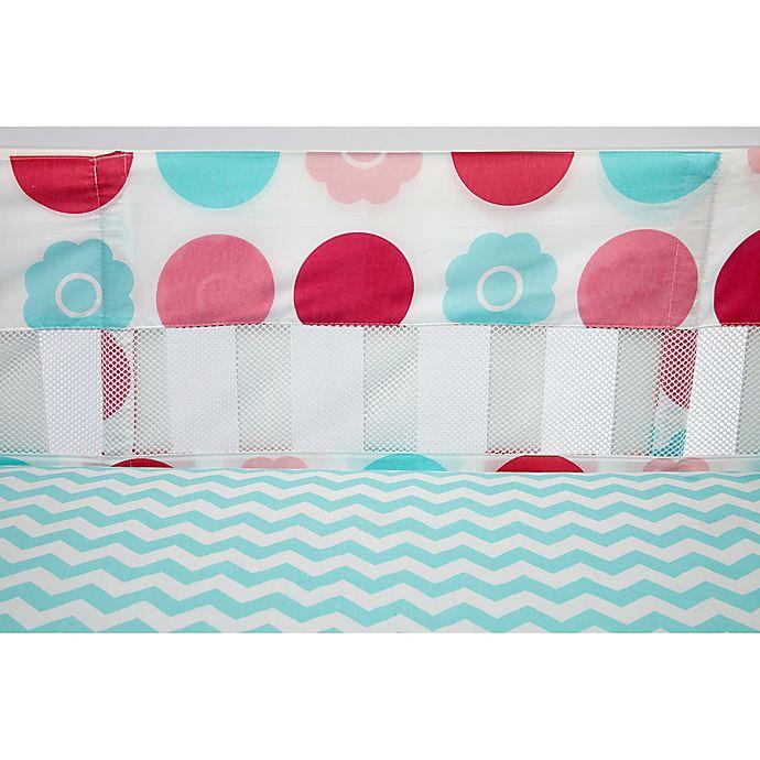Alternate image 1 for Little Bedding by NoJo® Tickled Pink 4-Piece Secure-Me Mesh Crib Liner