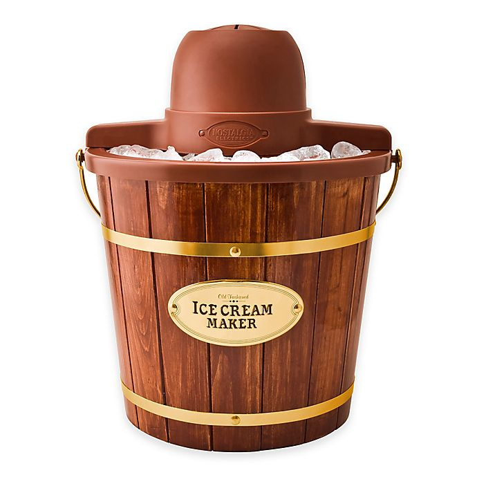 Alternate image 1 for Nostalgia™ Electrics Old Fashioned Wood Ice Cream Maker