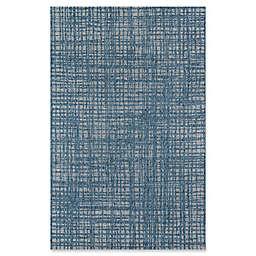 Momeni Como Plaid 5' x 7'6 Indoor/Outdoor Area Rug in Blue