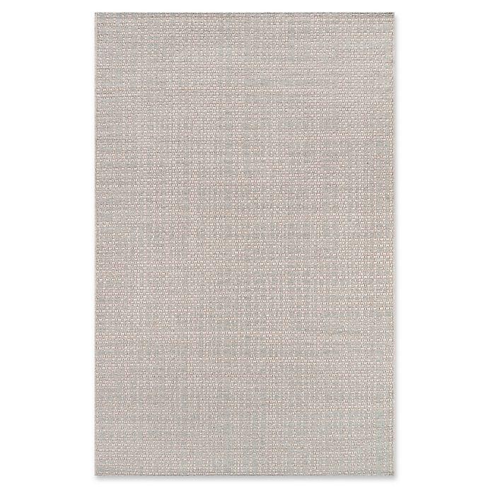 Alternate image 1 for Momeni Como Plaid 7'10 x 10'10 Indoor/Outdoor Area Rug in Stone