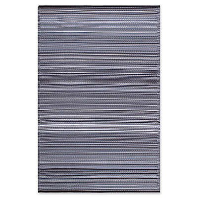 Fab Habitat Cancun Indoor/Outdoor Rug in Midnight