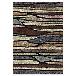 Orian Rugs Shag-Ri-La Plateau Rainbow 7'10 x 10'10 Multicolor Area Rug