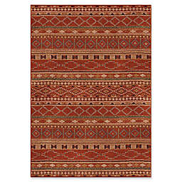 Orian Rugs Mardi Gras Zemmour Woven Area Rug in Red