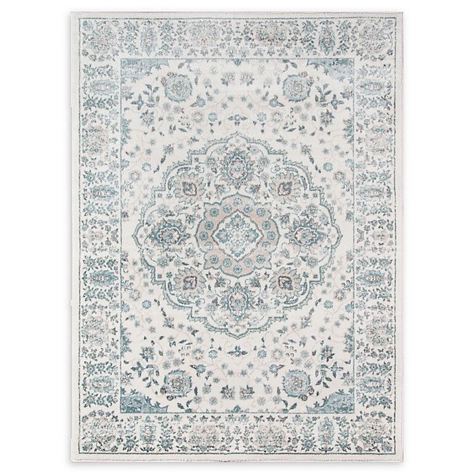Alternate image 1 for Momeni Brooklyn Heights Loomed 9'3 x 12'6 Area Rug in Ivory/Blue