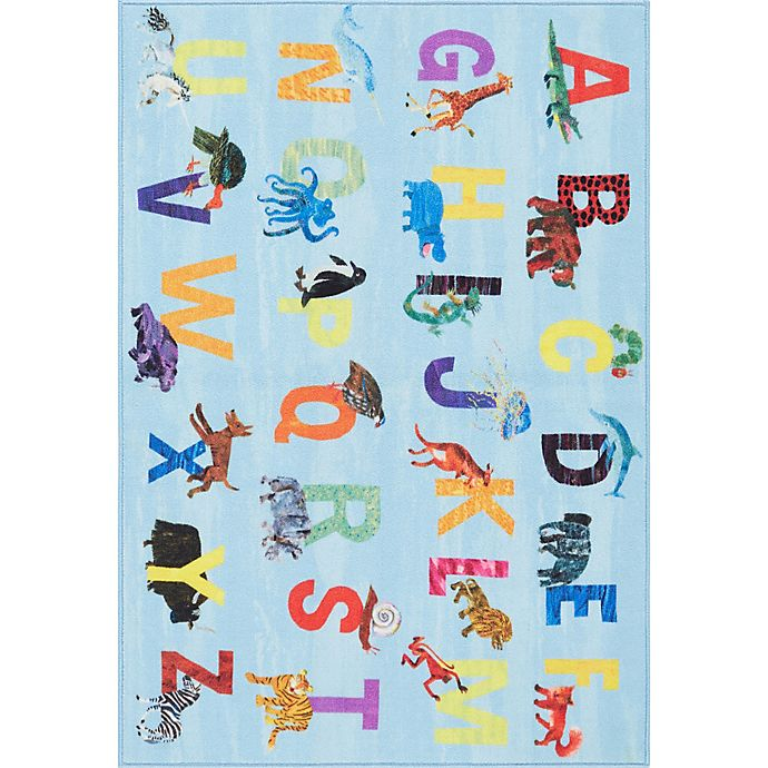 Alternate image 1 for Eric Carle Home Dynamix Elementary Blue Alphabet 4'11 x 6'6 Area Rug in Blue