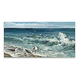 Artissimo Designs™ Sea Wave 12-Inch x 24-Inch Canvas Wall Art