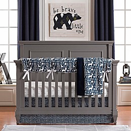 Liz and Roo Woodland Forest 3-Piece Crib Bedding Set in Navy