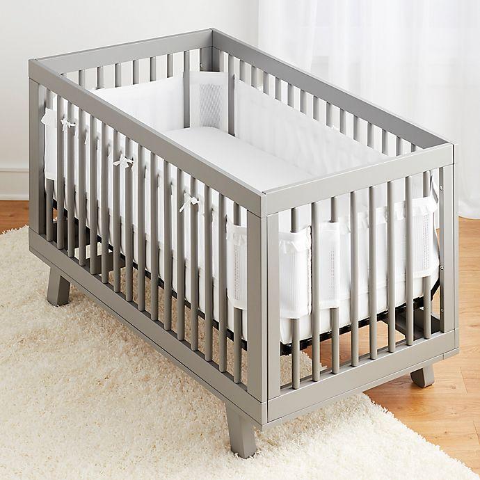 Alternate image 1 for BreathableBaby® Ruffled Deluxe Mesh Crib Liner in White
