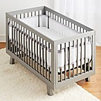 BreathableBaby® Ruffled Deluxe Mesh Crib Liner in Grey