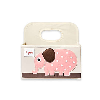 3 Sprouts Elephant Diaper Caddy in Pink