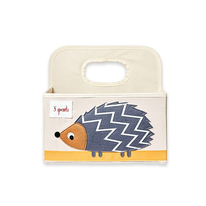 Alternate image 1 for 3 sprouts® Hedgehog Diaper Caddy in Grey