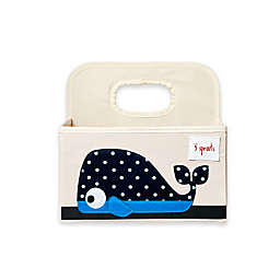 3 sprouts® Whale Diaper Caddy in Blue