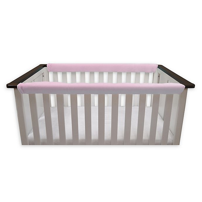 Alternate image 1 for Go Mama Go Designs® Minky Teething Guard in Pink