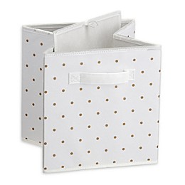 Little Seeds™ Small Polka Dot Print Storage Bin in Gold