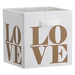 Little Seeds™ Love Print Storage Bin in Gold