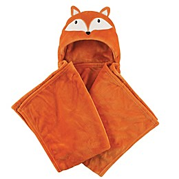 Hudson Baby® Fox Plush Hooded Blanket in Orange