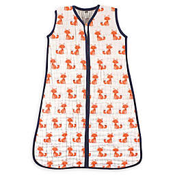Hudson Baby® Size 0-6M Fox Cotton Muslin Sleeping Bag in Orange