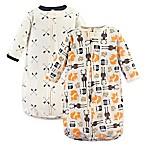 Hudson Baby® 2-Pack Forest Long Sleeve Sleeping Bag in Orange