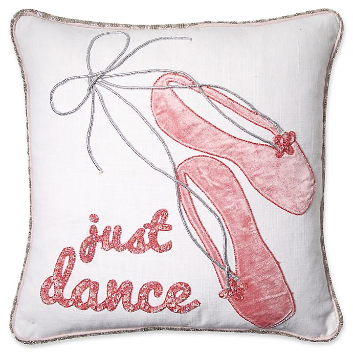 Alternate image 1 for Just Dance Square Throw Pillow in Pink
