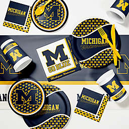 University of Michigan 89-Piece Game Day Party Supplies Kit