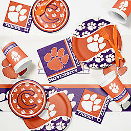 Clemson University 89-Piece Game Day Party Supplies Kit