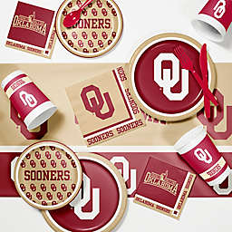 Oklahoma University 89-Piece Game Day Party Supplies Kit