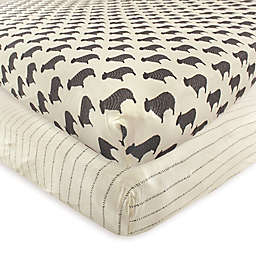 Hudson Baby® Sheep 2-Pack Fitted Crib Sheets