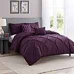 Cambridge 5-Piece King Comforter Set in Purple