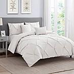 Cambridge 5-Piece Queen Comforter Set in White