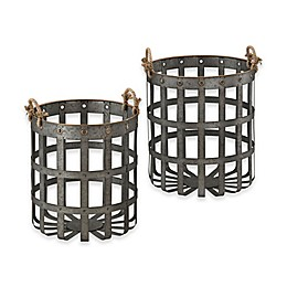 Sterling Industries Caxton Baskets in Iron (Set of 2)