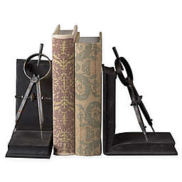 Sterling Industries Compass 2-Piece Bookend Set in Black