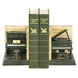 Sterling Industries Dueling Pianos 2-Piece Bookend Set in Black