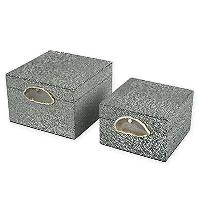 Sterling Industries Saint-Tropez 2-Piece Decorative Box Set in Grey