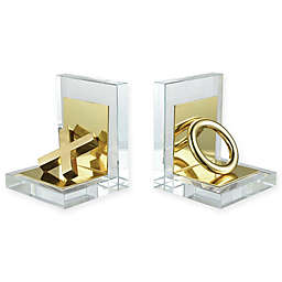 Sterling Industries Vanquish 2-Piece Bookend Set in Gold