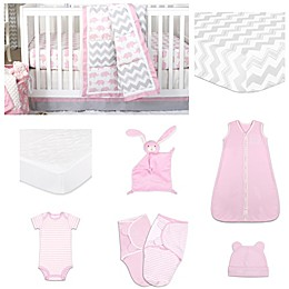 The Peanut Shell® Ellie Pretty Patch Crib Bedding Collection