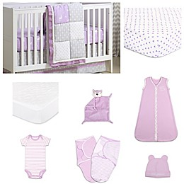 The Peanutshell™ Wild and Free Patchwork Crib Bedding Collection in Purple/Grey