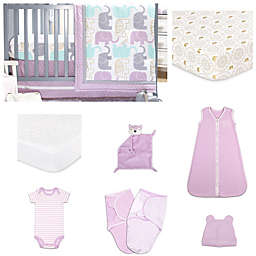 The Peanut Shell® Little Peanut Crib Bedding Collection in Lilac