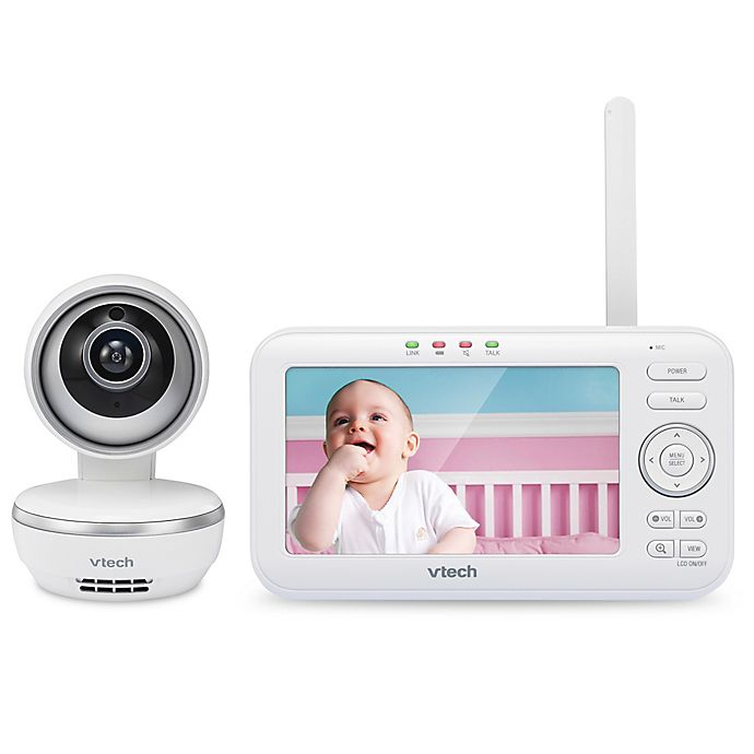 Alternate image 1 for VTech® VM5261 5-Inch Digital Video Baby Monitor with Pan and Tilt Camera in White
