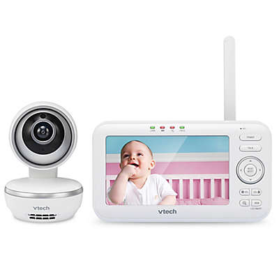 VTech® VM5261 5-Inch Digital Video Baby Monitor with Pan and Tilt Camera in White