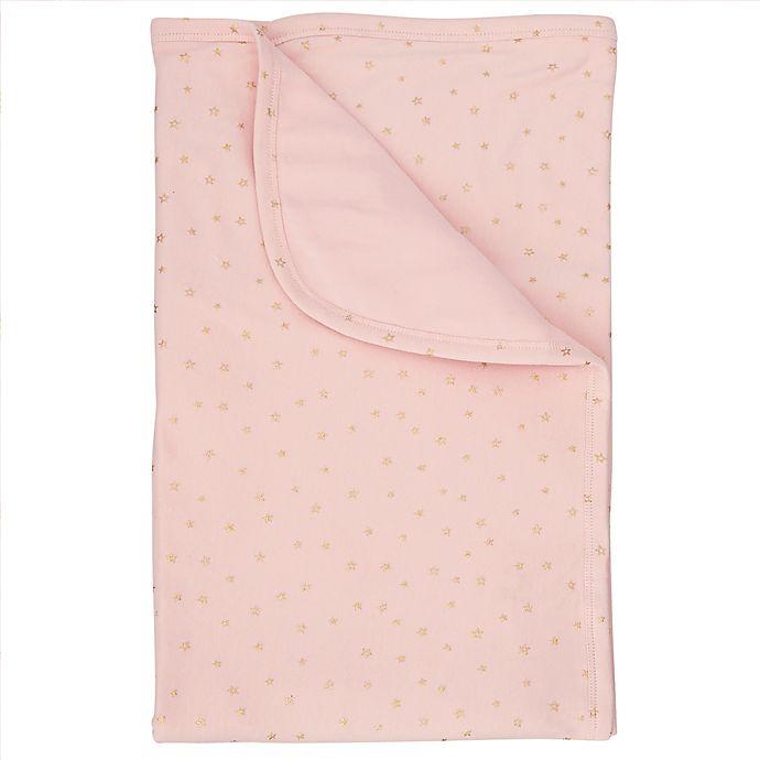 Alternate image 1 for Mud Pie® Star Sparkle Stroller Blanket in Pink