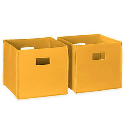 RiverRidge Kids Folding Storage Bins (Set of 2)